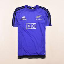 Adidas Herren Trikot Jersey Gr.S All Blacks New Zealand AdiZero Rugby Blau 84329