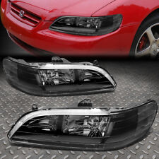 FOR 1998-2002 HONDA ACCORD PAIR BLACK HOUSING CLEAR CORNER HEADLIGHT/LAMP SET
