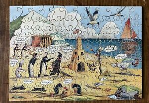 """VINTAGE WOODEN """" PIP,SQUEAK & WILFRED SEASIDE"""" JIGSAW PUZZLE - COMPLETE"""