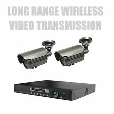 Two Long Range Wireless Nightvision Cctv Camera System W/ 4Ch Stand Alone Dvr