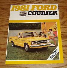 Original 1981 Ford Truck Courier Foldout Sales Brochure 81 Pickup