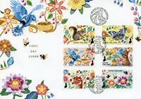 Finland Wild Animals Stamps 2021 FDC Let's Take Care Birds Flowers 6v S/A Set