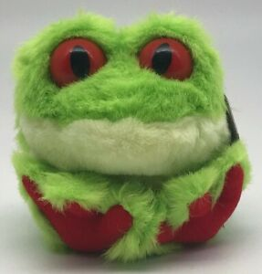 Freddy the Tree Frog RETIRED Puffkins Bean Bag Plush 1999 Green with Hang Tag