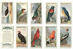Ogdens 1924 Set 50 Foreign Birds. Colourful & exotic selection  (C335)