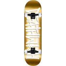 "Deathwish Skateboard Complete Assembly Deathspray Gold/White 8.25"" Black trucks"