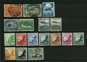 LOT  GERMANY SMALL COLLECTION AIRMAIL 1922 - 1935: 17 X USED : START $ 1.00