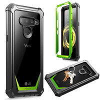 Poetic Shockproof Case For LG V50 ThinQ 5G Cover with Screen Protector Green