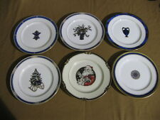Mint Set of 6 Fitz & Floyd American Settings Christmas Luncheon Plates Mint