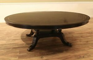 84 inch Round Dining Table, Large, Dark, Classic Round