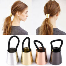 Fad Woman Metal Elastic Ponytail Holder Hair Clip Cuff Wrap Tie Band Ring Rope
