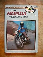 HONDA MOTORCYCLE SERVICE MANUAL REPAIR BOOK CLYMER 250 350 CC TWINS