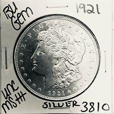 1921 BU GEM MORGAN SILVER DOLLAR UNC MS++ GENUINE U.S. MINT RARE COIN 3810