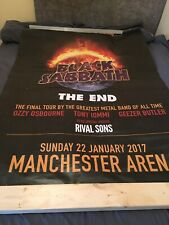 VERY RARE BLACK SABBATH MANCHESTER CONCERT TOUR POSTER FROM THE END TOUR 2017