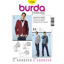 Burda Young Fashion SEWING PATTERN 7734 Mens Jackets & T-Shirt 34-46