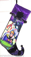 Disney Villains Christmas Stocking Ursula Maleficent Wicked Queen Cruella Di Vil