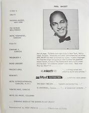 RARE Vintage PHIL HAZET Radio TV ECT INFORMATIONAL Brochure Paper