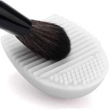 Oeuf Brush Egg en Silicone pour Nettoyage Pinceaux à Maquillage - Blanc