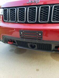 License Plate Bumper Mount Holder Bracket For Jeep Brand New