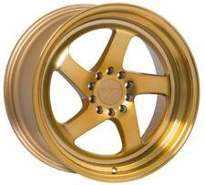 18X8.5 +45 F1R F28 5X112 MACHINED GOLD WHEELS Fits Mercedes C S E Cl Class W220