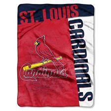 St Louis Cardinals 60x80 Royal Plush Throw Blanket - Strike Design [NEW] MLB