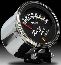 Classic Instruments Rocket Tach Retro Style Tachometer w/ Chrome Mounting Cup