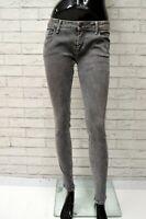 Jeans LABELROUTE Donna Taglia Size 28 Pantalone Pants Woman Grigio Slim Skinny