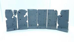 T-wall barricade set x6 Terrain scenery 40k tabletop 28mm Wargames  3d printed