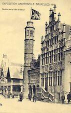 Postkaart - Brussel - Expo 1910 - Paviljoen van Gent