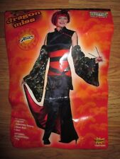 Womens ASIAN DRAGON MISS Halloween Costume juniors teen fits up to sz 9