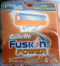 NEW! Gillette Fusion Power 3 Cartridges + 1 FUSION PROGLIDE POWER CARTRIDGE