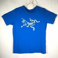 Arc'teryx Men's Small Blue Fossil Graphic T Shirt 100% Cotton