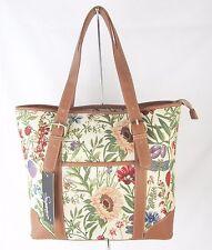 Tapestry Morning Garden Flower Design Handbag or Shoulder Bag Ext Pouch Signare
