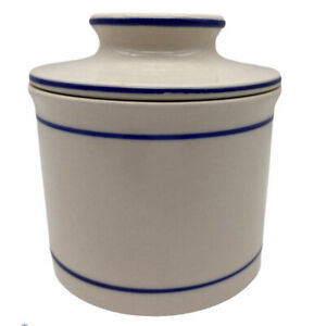 Butter Dish Crock French Bell Marble Porcelain Keeper Ceramic Storage Glazed