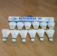 USED Yonex Aerosensa AS 30 Feather Shuttlecocks Excellent Condition 1 Dozen