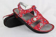 Alegria Women's Kleo Gladiator Wedge Sandals Size 11.5-12 EUR 42 Red Buds