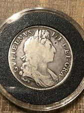 England UK Half Crown Silver Coin 1697 Great Britain William III