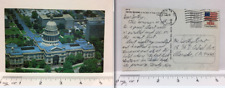 Postcard Texas TX Austin Capitol Building 1983 Posted Chrome R Young Air View
