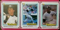 1981 Donruss REGGIE JACKSON 3 Card Lot (New York Yankees) HOF (NM-MT) *NICE LOT*