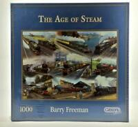 Gibsons The Age Of Steam Barry Freeman 1000 Piece Jigsaw Puzzle