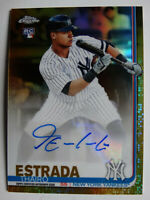 2019 Topps Update Chrome Thairo Estrada Yankees Gold Auto RC Baseball Card 31/50