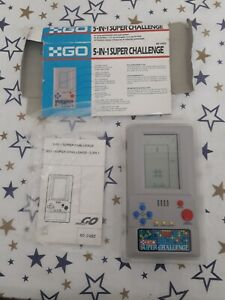 Vintage GO 5-In-1 Super Challenge Handheld Game - Boxed with Manual