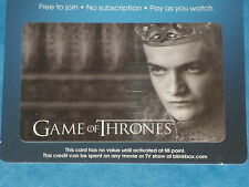 Game Of Thrones:  KING JOFFREY Collectible Plastic Top-Up Card UK Exclusive