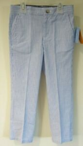 New Gymboree Spring Jubilee Blue/White Stripe Seersucker Pants Boy's Size 5/5T