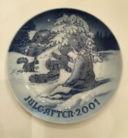 Bing & Grondahl Playing In The Snow Christmas Collector Plate 2001 Certificate