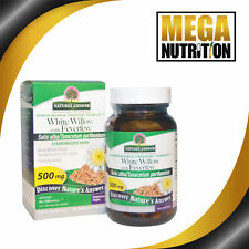 Nature's Answer White Willow with Feverfew 500mg 60 Veg Capsules Leaf & Flower