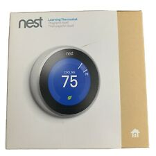 Nest Learning Programmable Thermostat - Stainless Steel (T3007ES)