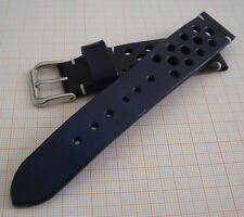 Leather Watch Strap 20 mm Racing Crono Made in Italy Genuine Italian Leather