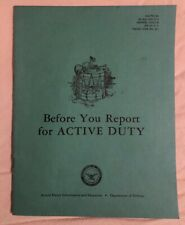 New listing U.S. Department Of Defense Booklet Before You Report For Active Duty 1965