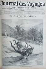 JOURNAL DES VOYAGES N° 947 de 1895 CHASSE ATTAQUE CAIMAN  / FUNERAILLE AU JAPON