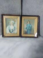 "Antique Victorian Pictures(3.5""x5.5""). Set of 2."
